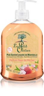 Le Petit Olivier Peach Blossom sabonete líquido nutritivo