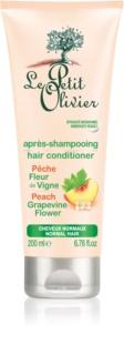 Le Petit Olivier Peach & Grapevine Flower kondicionér pre normálne vlasy