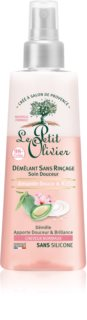 Le Petit Olivier Sweet Almond & Rice Cream condicionador sem enxaguar para cabelo normal