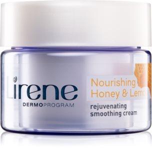 Lirene Moisture & Nourishment crema rejuvenecedora y alisadora con miel y limón