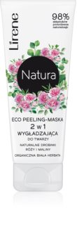 Lirene Natura - Face Care озаряваща пилинг маска за лице