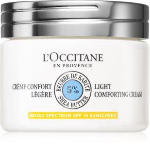 L'Occitane Shea Butter Light Comforting Cream нежен крем за лице с масло от шеа