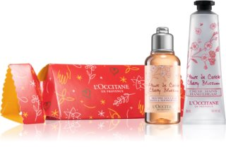 L'Occitane Cracker Cherry Blossom Care kozmetični set za navlaženo kožo