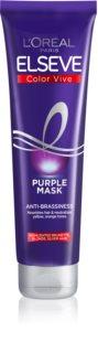 L'Oréal Paris Elseve Color-Vive Purple подхранваща маска  за блонд коса и коса с кичури