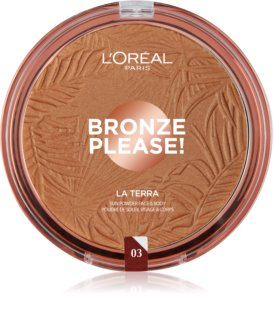 L'Oréal Paris Wake Up & Glow La Terra Bronze Please! bronzer e cipria per contouring