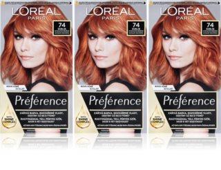 L'Oréal Paris Préférence βαφή μαλλιών 74 Dublin (επωφελής συσκευασία) απόχρωση