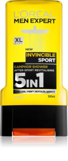 L'Oréal Paris Men Expert Invincible Sport τζελ για ντους 3 σε 1