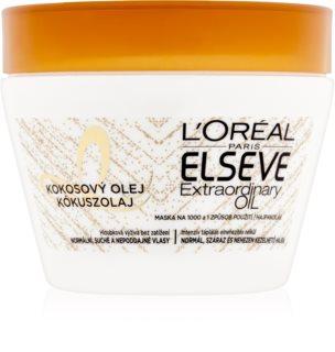 L'Oréal Paris Elseve Extraordinary Oil Coconut mască nutritivă cu ulei de cocos, pentru păr normal spre uscat