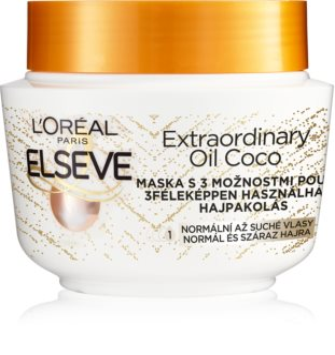 L'Oréal Paris Elseve Extraordinary Oil Coconut Θρεπτική μάσκα με έλαιο καρύδας για κανονικά προς ξηρά μαλλιά