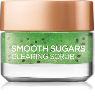 L'Oréal Paris Smooth Sugars Scrub esfoliante de limpeza anticravos