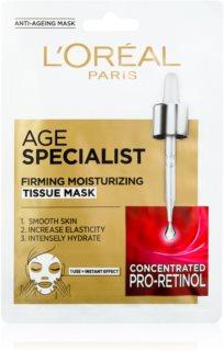 L'Oréal Paris Age Specialist 45+ sheet maska za trenutačno učvršćivanje i zaglađivanje lica