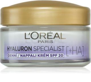 L'Oréal Paris Hyaluron Specialist auffüllende, feuchtigkeitsspendende Creme SPF 20