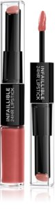 L'Oréal Paris Infallible 24H langlebiger, glänzender Lippenstift 2 in 1