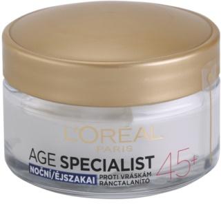 L'Oréal Paris Age Specialist 45+ crème de nuit anti-rides