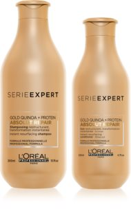 L'Oréal Professionnel Serie Expert Absolut Repair Gold Quinoa + Protein vorteilhafte Packung I. (für stark geschädigtes Haar)
