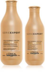 L'Oréal Professionnel Serie Expert Absolut Repair Gold Quinoa + Protein изгодна опаковка I. (за силно увредена коса)