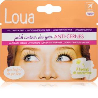 Loua Eyes Contour Strips Anti Shadow oční maska proti otokům a tmavým kruhům