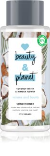 Love Beauty & Planet Volume and Bounty après-shampoing fortifiant pour cheveux fins