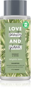 Love Beauty & Planet Delightful Detox champú limpiador para el cabello normal hasta graso