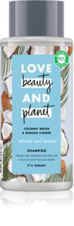 Love Beauty & Planet Volume and Bounty champú para cabello fino