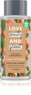 Love Beauty & Planet Happy and Hydrated champú sin sulfatos para cabello seco