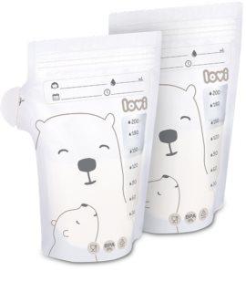 LOVI Buddy Bear sáček na uchování mateřského mléka