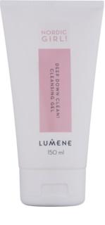 Lumene Nordic Girl! Deep Down Clean! tiefenreinigendes Gel für Haut mit kleinen Makeln