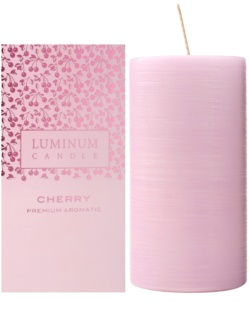Luminum Candle Premium Aromatic Cherry ароматна свещ  голяма (Ø 70 - 130 mm, 65 h)