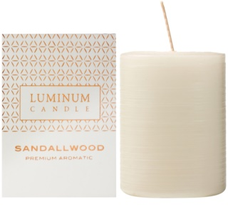 Luminum Candle Premium Aromatic Sandalwood aроматична свічка середня (Ø 60 - 80 mm, 32 h)
