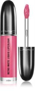MAC Retro Matte Liquid Lipcolour mat šminka s kovinskim učinkom