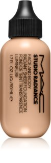 MAC Cosmetics  Studio Radiance Face and Body Radiant Sheer Foundation fond de teint léger visage et corps