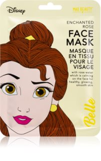 Mad Beauty Disney Princess Belle kalmerende sheet mask met Rozenbottel Extract