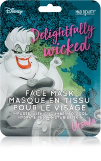 Mad Beauty Disney Villains Ursula Moisturising face sheet mask With Extracts Of Cucumber