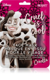 Mad Beauty Disney Villains Cruella Sheet Mask with Coconut Oil
