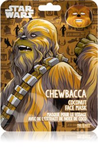Mad Beauty Star Wars Chewbacca maska nawilżająca w płacie Z olejkiem kokosowym.