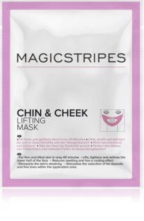 MAGICSTRIPES Chin & Cheek učvrstitvena hidrogel maska za brado in obraz