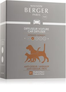 Maison Berger Paris Car Anti Odour Animal illat autóba utántöltő (Fruity & Floral)