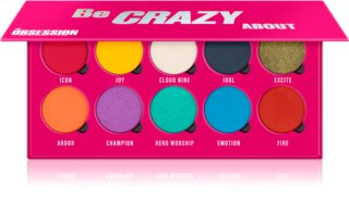 Makeup Obsession Be Crazy About Lidschattenpalette