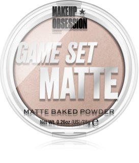 Makeup Obsession Game Set Matte pečeni matirajući puder