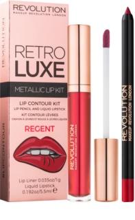 Makeup Revolution Retro Luxe σετ για τα χείλη