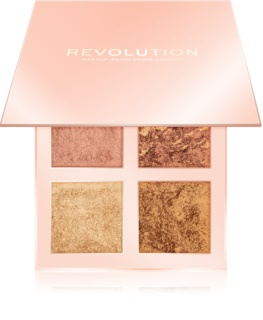 Makeup Revolution Face Quad Palett med highlighter