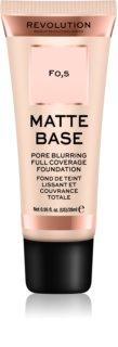 Makeup Revolution Matte Base acoperire make-up