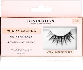Makeup Revolution False Lashes Wispy pestanas + cola 1 ml NO.7 Fantasy