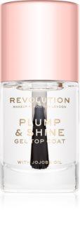 Makeup Revolution Plump & Shine lak na nechty s gélovým efektom priesvitný
