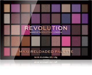 Makeup Revolution Maxi Reloaded Palette paletka pudrových očních stínů