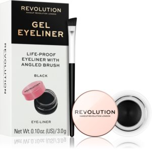 Makeup Revolution Gel Eyeliner Pot delineador em gel com pincel