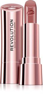Makeup Revolution Satin Kiss batom com efeito aveludado tom Heart Race 3,5 g