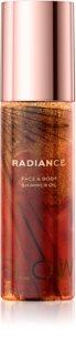 Makeup Revolution Glow Shimmer třpytivý suchý olej na obličej a tělo