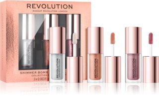 Makeup Revolution Shimmer Bomb set sjajila za usne