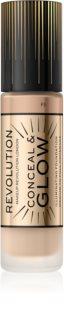 Makeup Revolution Conceal & Glow Kirkastava Meikkivoide Luonnolliselle Lookille